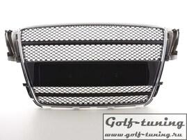 Audi A5 B8 07- Решетка радиатора без значка с хром полосками