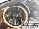 Opel Corsa C Фары с ангельскими глазками черные