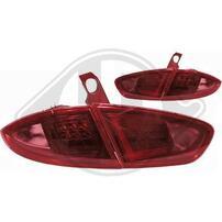Seat Leon 1P1 09-12 Фонари lightbar design, красно-тонированные