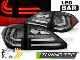 LEXUS RX III 350 09-12 Фонари led bar design с бегающим поворотником черные