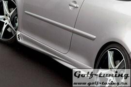 VW Golf 5 Накладки на пороги zender