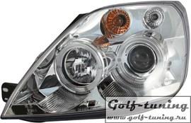 Ford Fiesta 01-05 Фары с линзами и ангельскими глазками хром