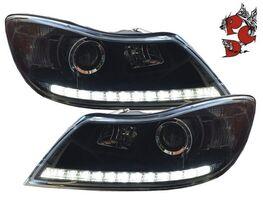 Skoda Octavia 09-13 Фары Tagfahrlicht-Optik черные