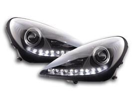 Mercedes-Benz SLK R171 04-11 Фары с LED габаритами черные