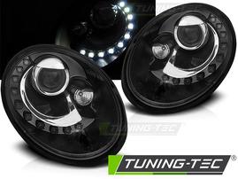 VW NEW BEETLE 06-12 Фары с LED скобками черные