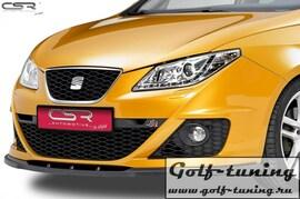 Seat Ibiza 6J 08-12 Накладка на передний бампер