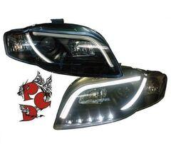 Audi A4 B7 04-08 Фары Light-Tube черные