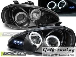 Mazda MX3 91-98 Фары Angel eyes черные