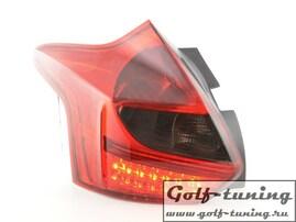 Ford Focus 11-14 Хэтчбэк Фонари светодиодные, красно-тонированные