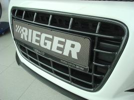 Решетка радиатора для переднего бампера Rieger 14102/14103 Carbon Look