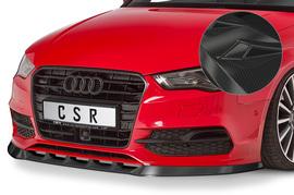 Audi A3 8V Cabrio S-Line 14-16 Накладка на передний бампер Carbon look