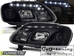 VW Touran 03-06/Caddy 03-10 Фары Devil eyes, Dayline черные