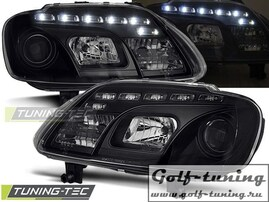 VW Touran/Caddy 03-06 Фары Devil eyes, Dayline черные