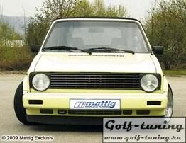 VW Golf 1 Решетка радиатора без значка под 2 фары черная