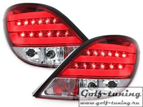 Peugeot 207 06-09 Фонари светодиодные, красно-белые