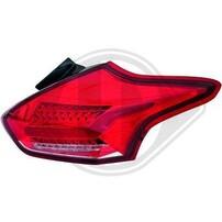 Ford Focus 3 15-18 Фонари lightbar design, красно-белые
