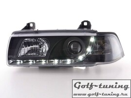 BMW E36 4Дв Фары Devil eyes, Dayline черные
