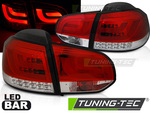 VW Golf 6 Фонари LED BAR красно-белые