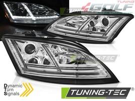 Audi TT 8J 06-10 Фары lightbar design хром