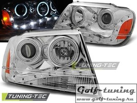 Jeep Grand Cherokee 99-05 Фары Devil eyes, Dayline хром
