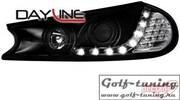 Ford Mondeo 96-00 Фары Devil eyes, Dayline черные с светодиодным поворотником