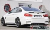 BMW F80/F82/F83 14- Накладка на задний бампер/диффузор глянцевая