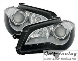 VW Touran GP 06-10 Фары Devil eyes, Dayline черные