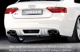 Audi A5 S5 B8/B81 07-11 Sportback Накладка на задний бампер/диффузор