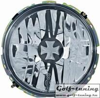 VW Golf 1 Фары с мальтийским крестом наружные, хром