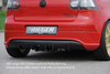 VW Golf 5 GTI Диффузор для заднего бампера R-Look Carbon Look