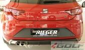 Seat Leon FR (5F) 17- Накладка на задний бампер/диффузор carbon look