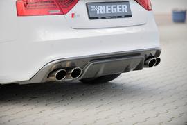Audi A5 S-Line/S5 11-16 Купе/Кабрио Накладка на задний бампер/диффузор carbon look