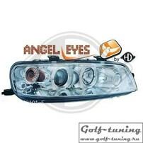 Fiat Punto 99-03 Фары с ангельскими глазками и линзами хром