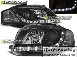 Audi A3 8P 03-08 Фары DAYLIGHT черные