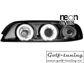 BMW E39 95-00 Фары с CCFL ангельскими глазками и линзами черные