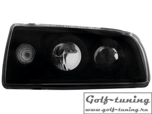 VW Vento Фары с линзами черные ЛЕВАЯ фара