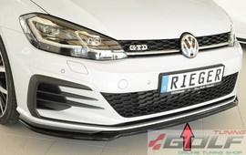 VW Golf 7 GTI/GTD/GTE 17- Накладка на передний бампер /сплиттер глянцевая