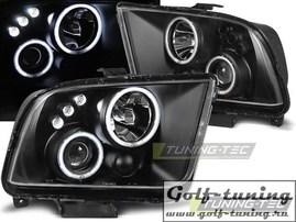 Ford Mustang 04-09 Фары Angel eyes черные