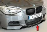 BMW F20/F21 11-15 Накладка на передний бампер черная, глянцевая