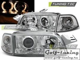 Fiat Punto 93-99 Фары Angel eyes хром