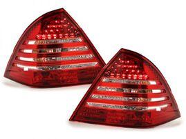 Mercedes W203 00-04 Фонари светодиодные, красно-белые