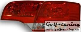 Audi A4 B7 04-08 Универсал Фонари светодиодные, краснo-белые