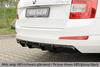 Skoda Octavia A7 12-19 Накладка на задний бампер/диффузор carbon look