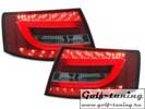 Audi A6 4F 04-08 Седан Фонари светодиодные, красно-тонированные lightbar design