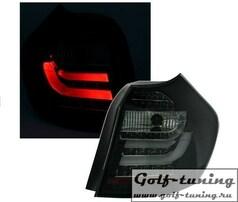 BMW E87 07-11 Фонари Lightbar design черные