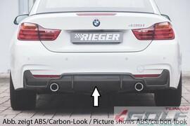 BMW F32/F33/F36 12- Диффузор заднего бампера черный