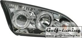 Ford Focus 04-08 Фары с линзами и ангельскими глазками хром