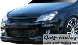 Opel Astra H GTC 04-07 Решетка без значка с сеткой