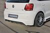 VW Polo 6R 09-14 Накладка на задний бампер Carbon Look