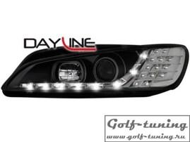 Peugeot 306 96-00 Фары Devil eyes, Dayline черные с светодиодным поворотником